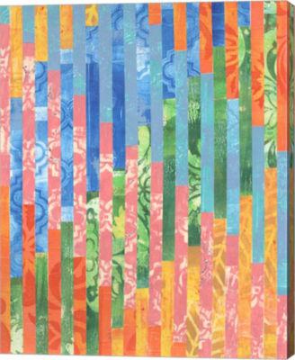 Metaverse Art Quilted Monoprints VI Canvas Wall Art