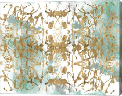Metaverse Art Verdant Mirror II Canvas Wall Art