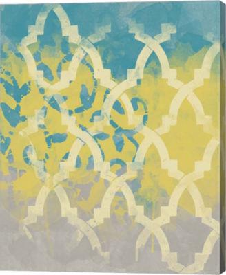 Metaverse Art Yellow in the Middle II Canvas WallArt