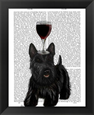 Metaverse Art Dog Au Vin Scottish Terrier Framed Wall Art