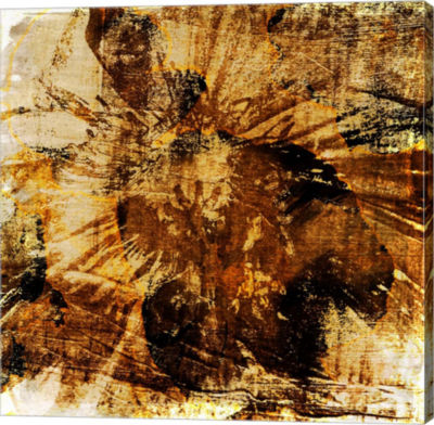 Metaverse Art Poppy Gold II Canvas Wall Art