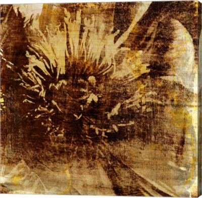 Metaverse Art Poppy Gold IV Canvas Wall Art