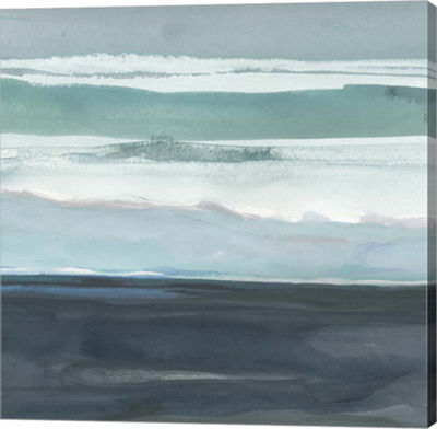 Metaverse Art Teal Sea I Canvas Wall Art