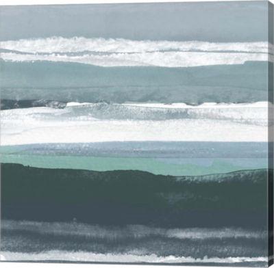 Metaverse Art Teal Sea II Canvas Wall Art