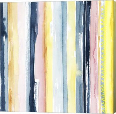 Metaverse Art Sunset Stream II Canvas Wall Art