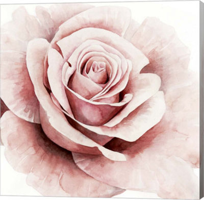 Metaverse Art Pink Rose I Canvas Wall Art