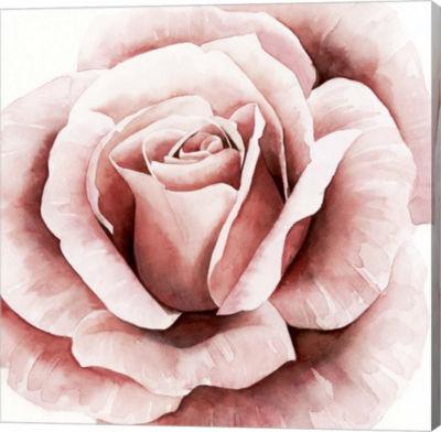 Metaverse Art Pink Rose II Canvas Wall Art