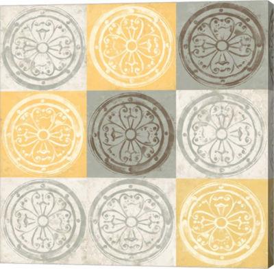 Metaverse Art Yellow Squared II Canvas Wall Art