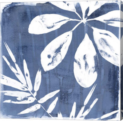Metaverse Art Tropical Indigo Impressions II Canvas Wall Art