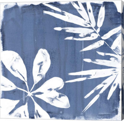 Metaverse Art Tropical Indigo Impressions III Canvas Wall Art