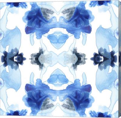 Metaverse Art Blue Kaleidoscope I Canvas Wall Art