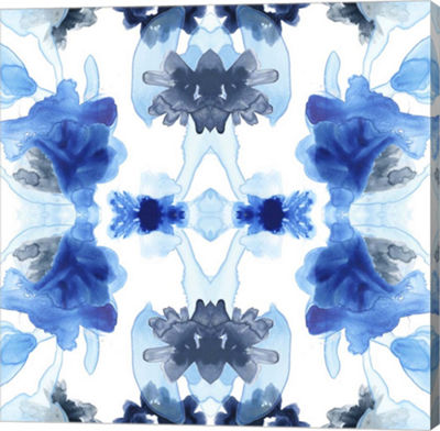 Metaverse Art Blue Kaleidoscope II Canvas Wall Art