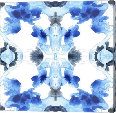 Metaverse Art Blue Kaleidoscope IV Canvas Wall Art