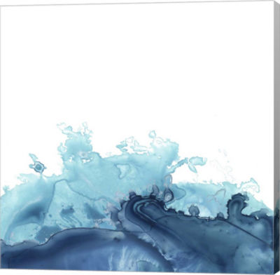 Metaverse Art Splash Wave III Canvas Wall Art