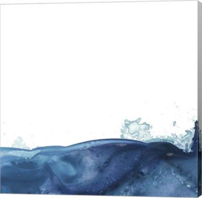 Metaverse Art Splash Wave V Canvas Wall Art