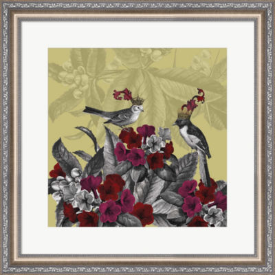 Metaverse Art Blooming Birds  Azalea  Fine Art Print Framed Wall Art