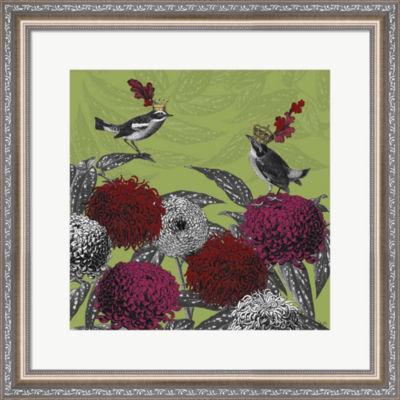 Metaverse Art Blooming Birds  Chrysanthemum 1  Fine Art Print Framed Wall Art