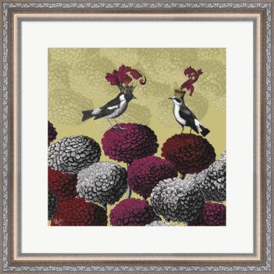 Metaverse Art Blooming Birds  Chrysanthemum 2  Fine Art Print Framed Wall Art