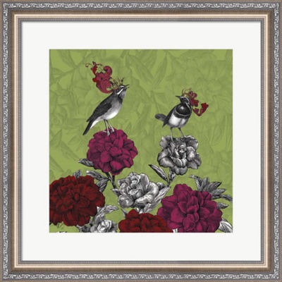 Metaverse Art Blooming Birds  Rhododendron  Fine Art Print Framed Wall Art