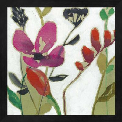 Metaverse Art Vivid Flowers I Framed Wall Art