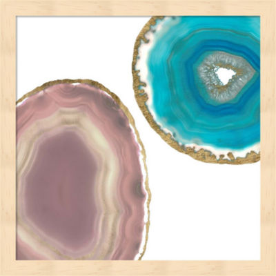 Metaverse Art Gem Stones II Framed Wall Art