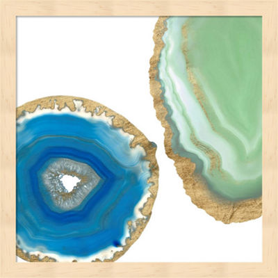 Metaverse Art Gem Stones III Framed Wall Art