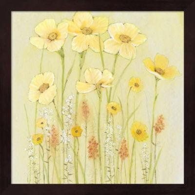 Metaverse Art Soft Spring Floral I Framed Wall Art