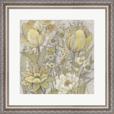 Metaverse Art Mix Floral I Framed Wall Art