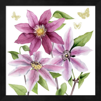 Metaverse Art Clematis Climb I Framed Wall Art