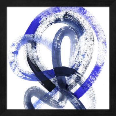 Metaverse Art Blue Kinesis IV Framed Wall Art