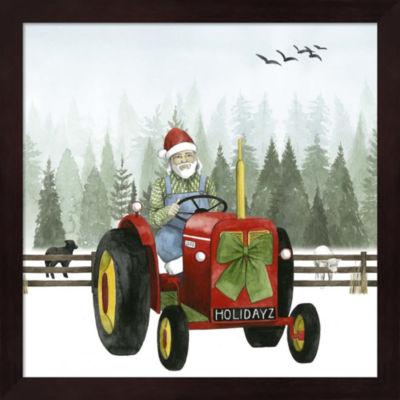 Metaverse Art Country Santa I Framed Wall Art