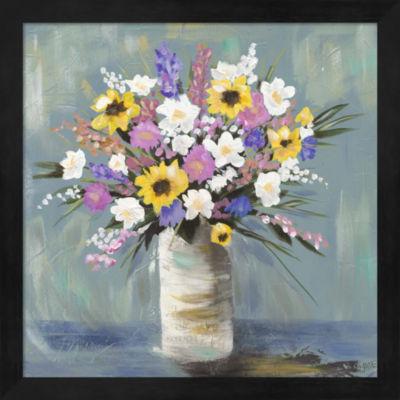 Metaverse Art Mixed Pastel Bouquet I Framed Wall Art