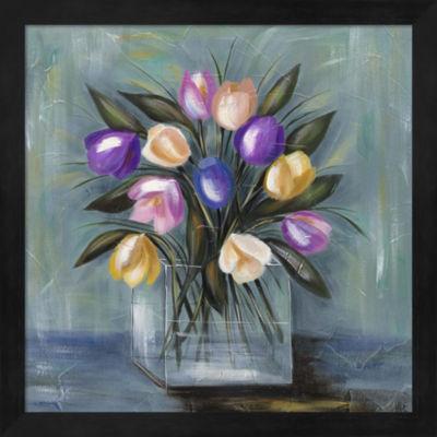 Metaverse Art Mixed Pastel Bouquet II Framed WallArt