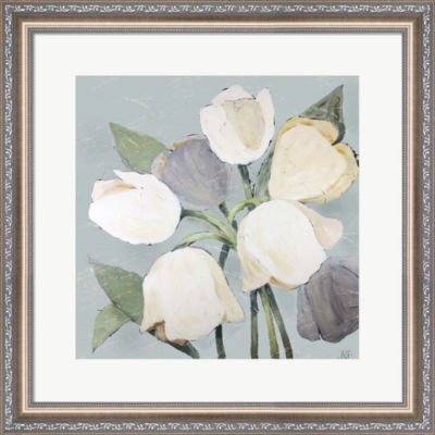 Metaverse Art French Tulips I Framed Wall Art