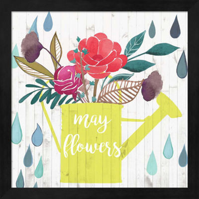 Metaverse Art April Showers & May Flowers II Framed Wall Art