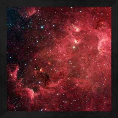 Metaverse Art Space Photography VII Framed Wall Art