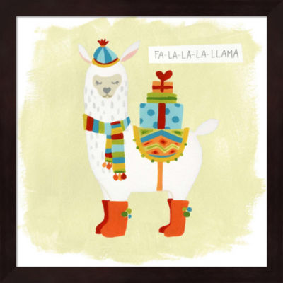 Metaverse Art Fa-la-la-la Llama I Framed Wall Art