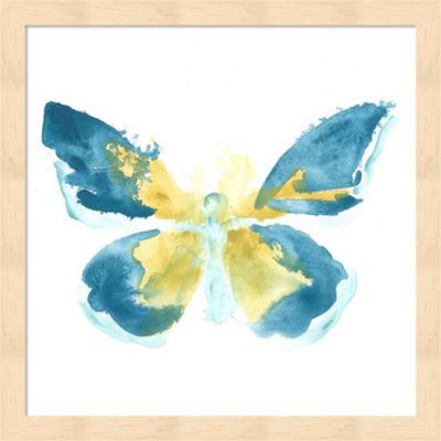 Metaverse Art Butterfly Traces I Framed Wall Art