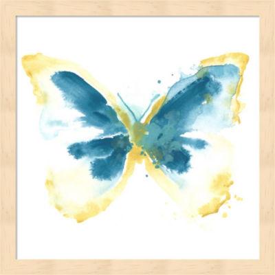 Metaverse Art Butterfly Traces III Framed Wall Art