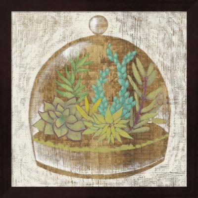Metaverse Art Glass Garden I Framed Wall Art