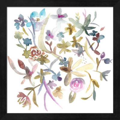 Metaverse Art Concord Florals I Framed Wall Art