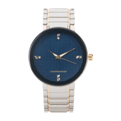 Red Bow Deal 1/10 C.T. T.W. Mens Two Tone Bracelet Watch-03501n-18-J34