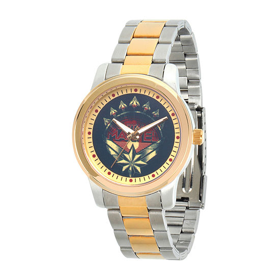 Marvel Mens Two Tone Stainless Steel Bracelet Watch-Wma000319