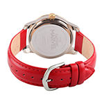 Marvel Mens Red Leather Strap Watch-Wma000322
