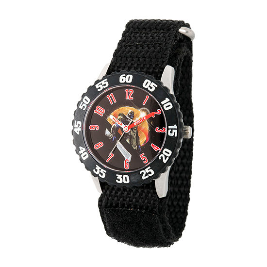 Marvel Avengers Boys Black Strap Watch-Wma000330