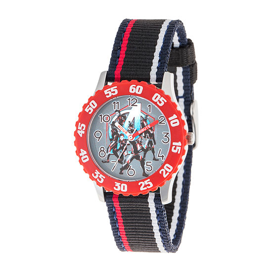 Marvel Avengers Boys Black Strap Watch-Wma000331