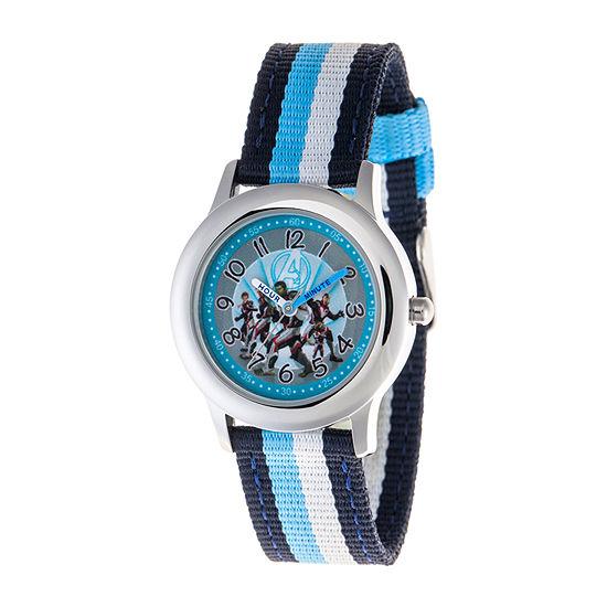 Marvel Avengers Boys Blue Strap Watch-Wma000333