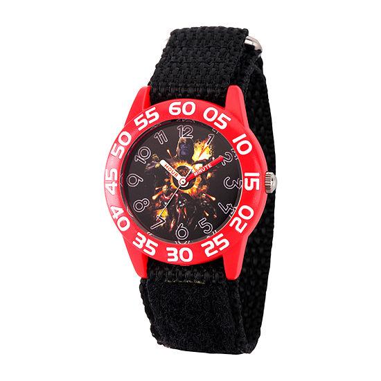Avengers Boys Black Strap Watch-Wma000334