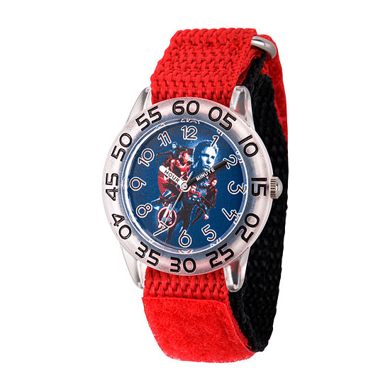 Avengers Boys Red Strap Watch-Wma000335