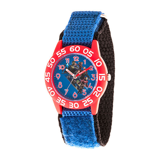 Marvel Avengers Boys Blue Strap Watch-Wma000337